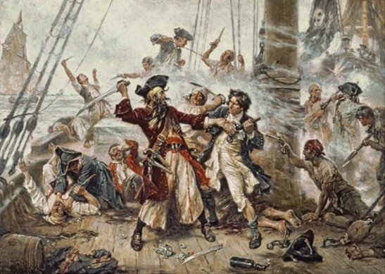 Capture of the pirate Blackbeard